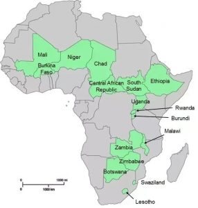Landlocked countries in Africa